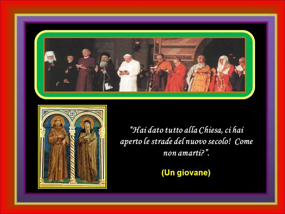 Amato Papa Giovanni Paolo II, io credo che tu, guardando dal cielo i tanti bambini che soffrono sulla terra...porterai al Padre le loro lacrime e farai di tutto per aiutarli.