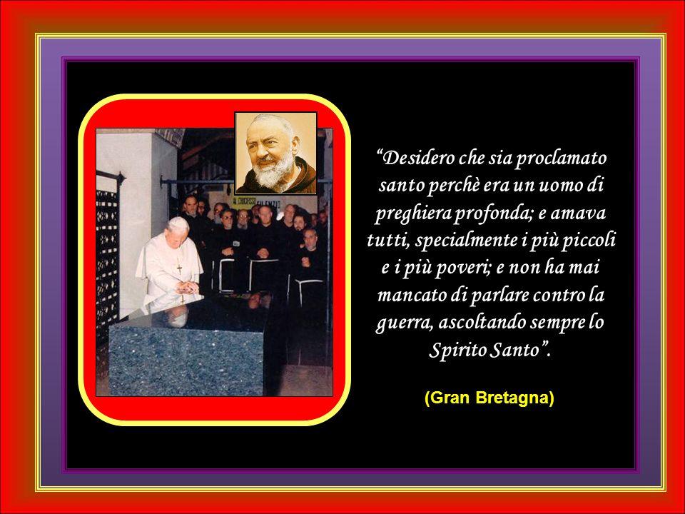 Giovanni Paolo II, ti scrivo per chiederti una cosa, una cosa grande.