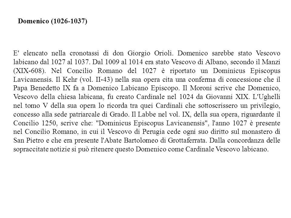E elencato nella cronotassi di don Giorgio Orioli.