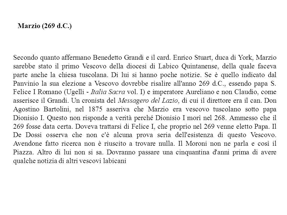 Secondo quanto affermano Benedetto Grandi e il card.