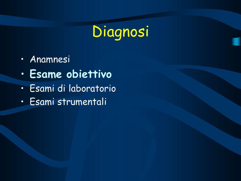 Diagnosi Anamnesi Esame obiettivo Esami di laboratorio Esami strumentali