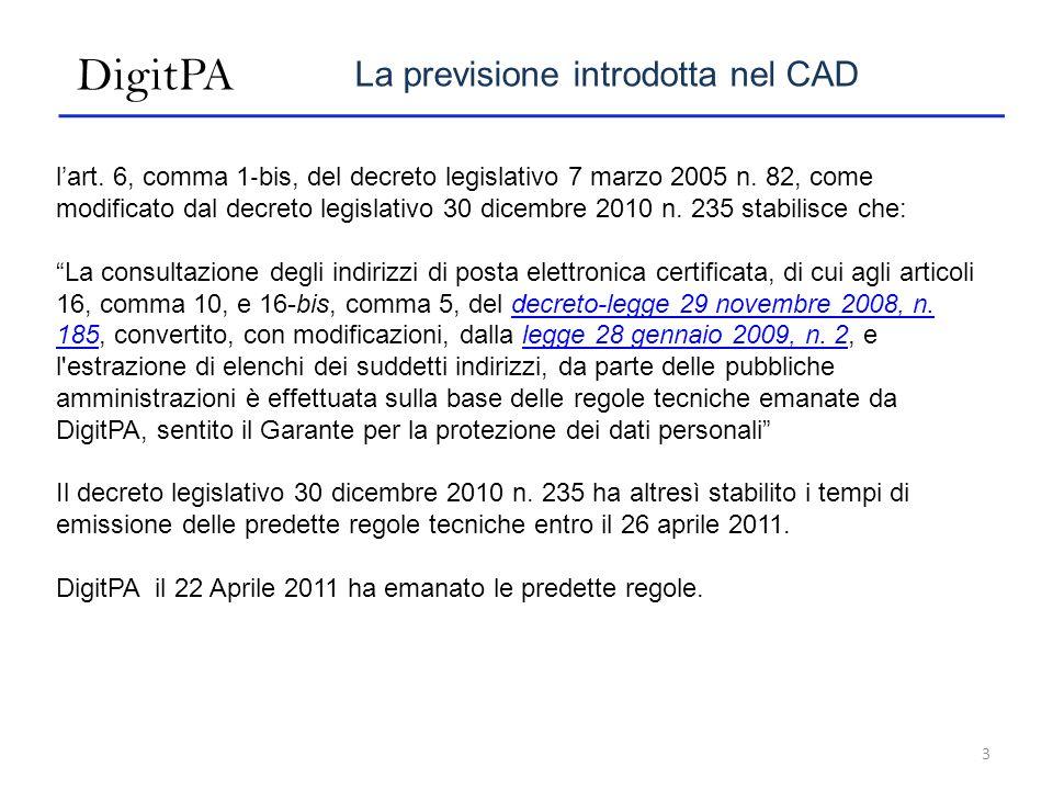 DigitPA La previsione introdotta nel CAD lart.