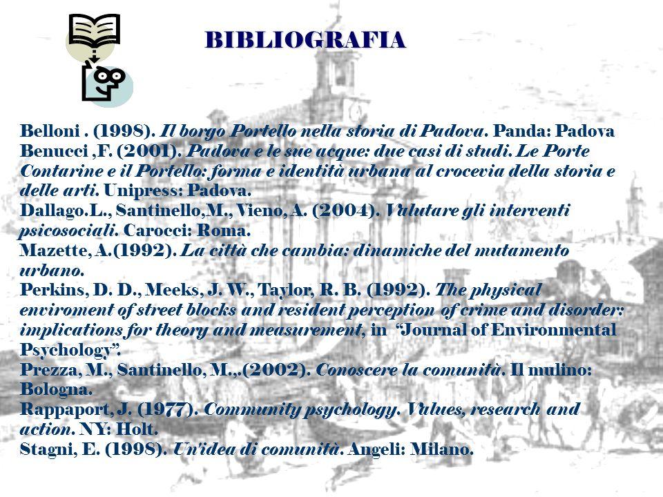 Belloni. (1998). Il borgo Portello nella storia di Padova. Panda: Padova Benucci,F. (2001). Padova e le sue acque: due casi di studi. Le Porte Contari