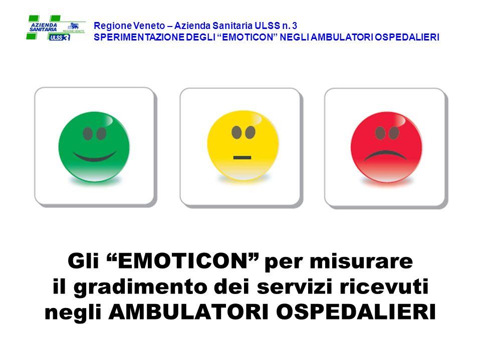 Gli EMOTICON per misurare il gradimento dei servizi ricevuti negli AMBULATORI OSPEDALIERI Regione Veneto – Azienda Sanitaria ULSS n.