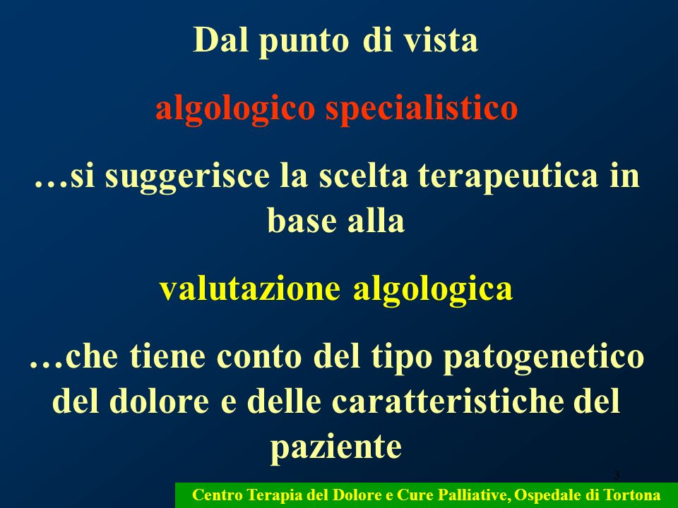 74 Centro Terapia del Dolore e Cure Palliative, Ospedale di Tortona
