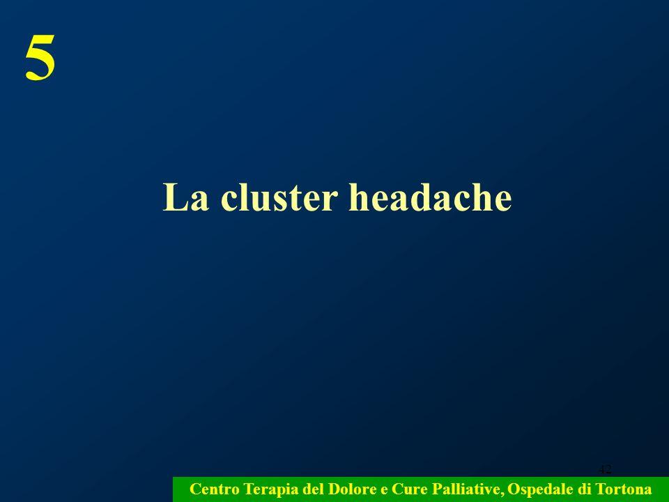42 Centro Terapia del Dolore e Cure Palliative, Ospedale di Tortona La cluster headache 5