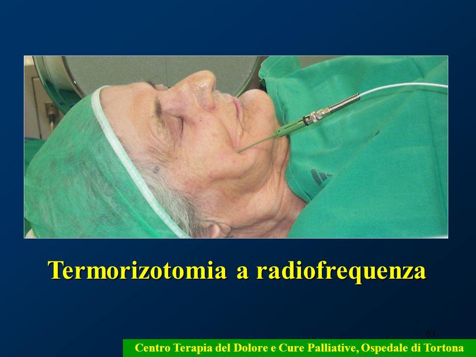 63 Centro Terapia del Dolore e Cure Palliative, Ospedale di Tortona Termorizotomia a radiofrequenza Termorizotomia a radiofrequenza