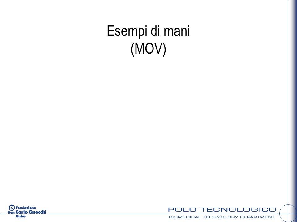 Esempi di mani (MOV)