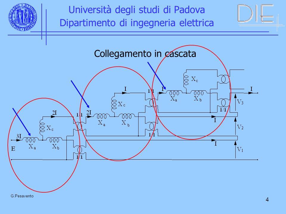 4 Università degli studi di Padova Dipartimento di ingegneria elettrica G.Pesavento Collegamento in cascata