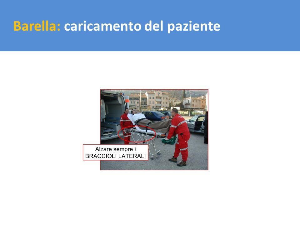 Il trasporto del carico Barella: caricamento del paziente