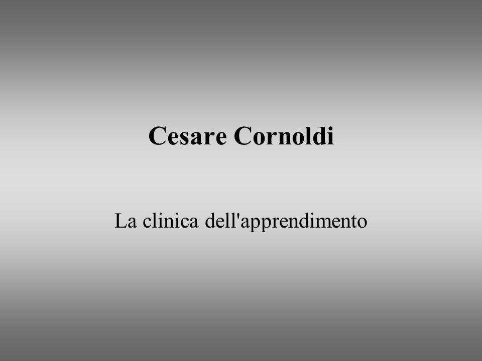 Cesare Cornoldi La clinica dell'apprendimento