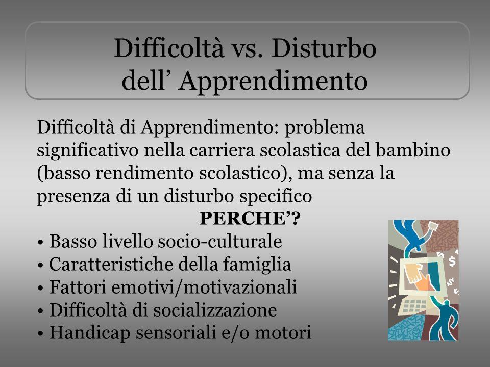 Difficoltà vs.