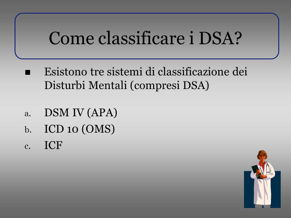 Come classificare i DSA.
