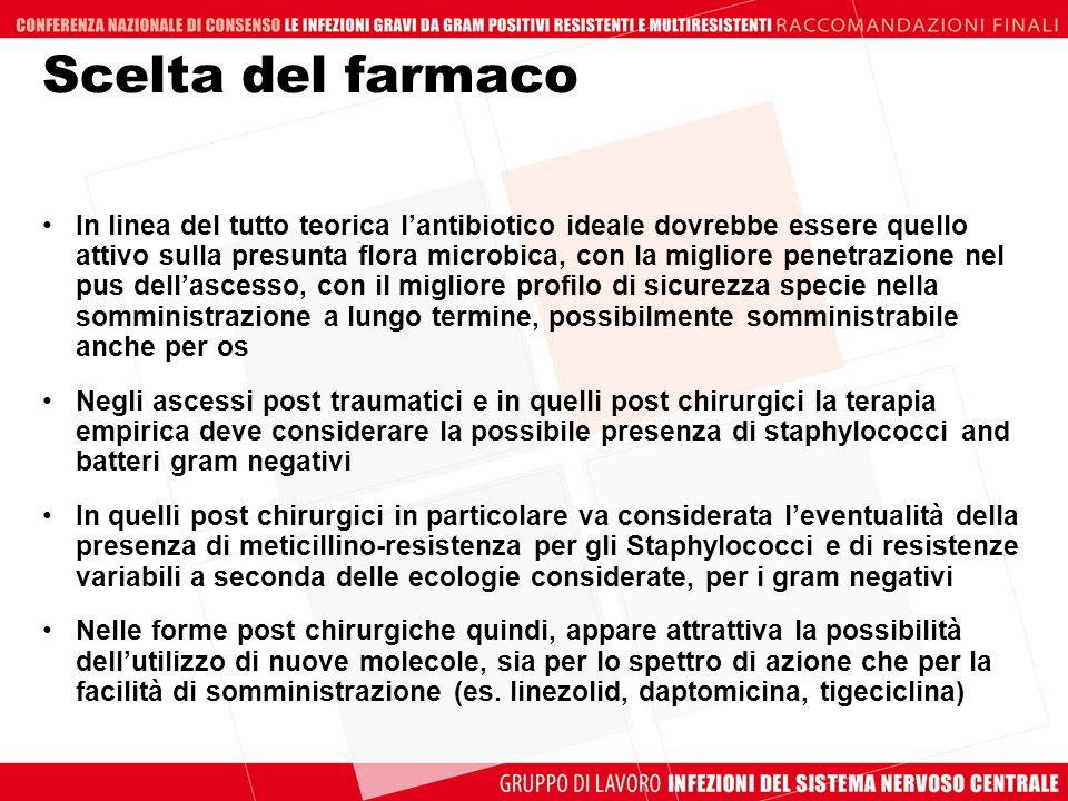 Scelta del farmaco In linea del tutto teorica lantibiotico ideale dovrebbe essere quello attivo sulla presunta flora microbica, con la migliore penetr