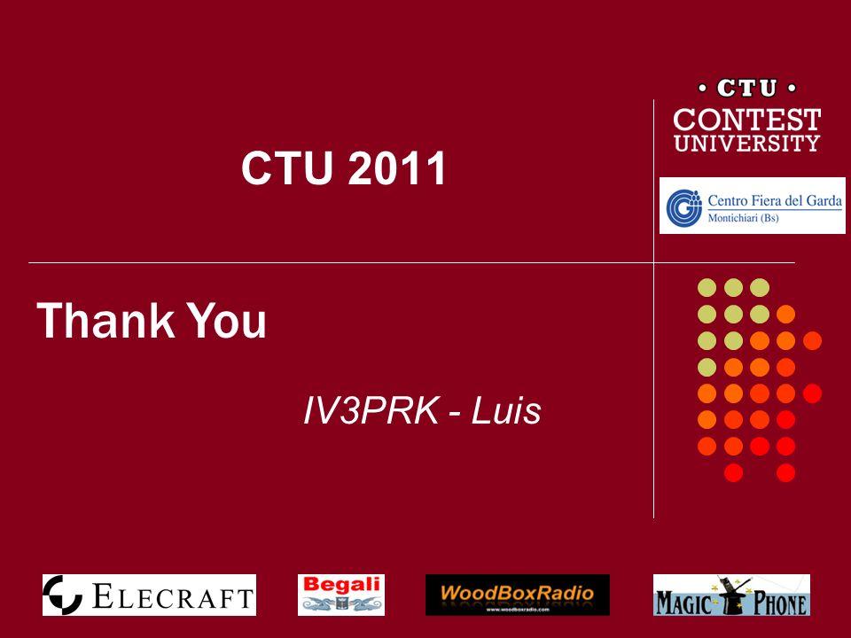 CTU 2011 Thank You IV3PRK - Luis