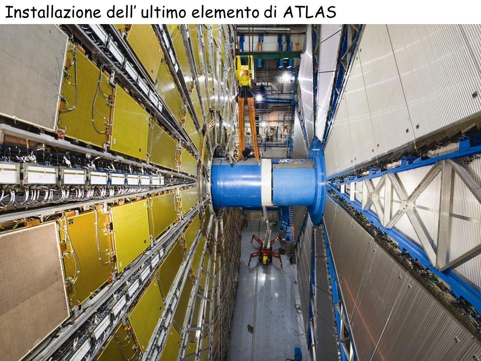 17 2007 2008 Installazione dell ultimo elemento di ATLAS