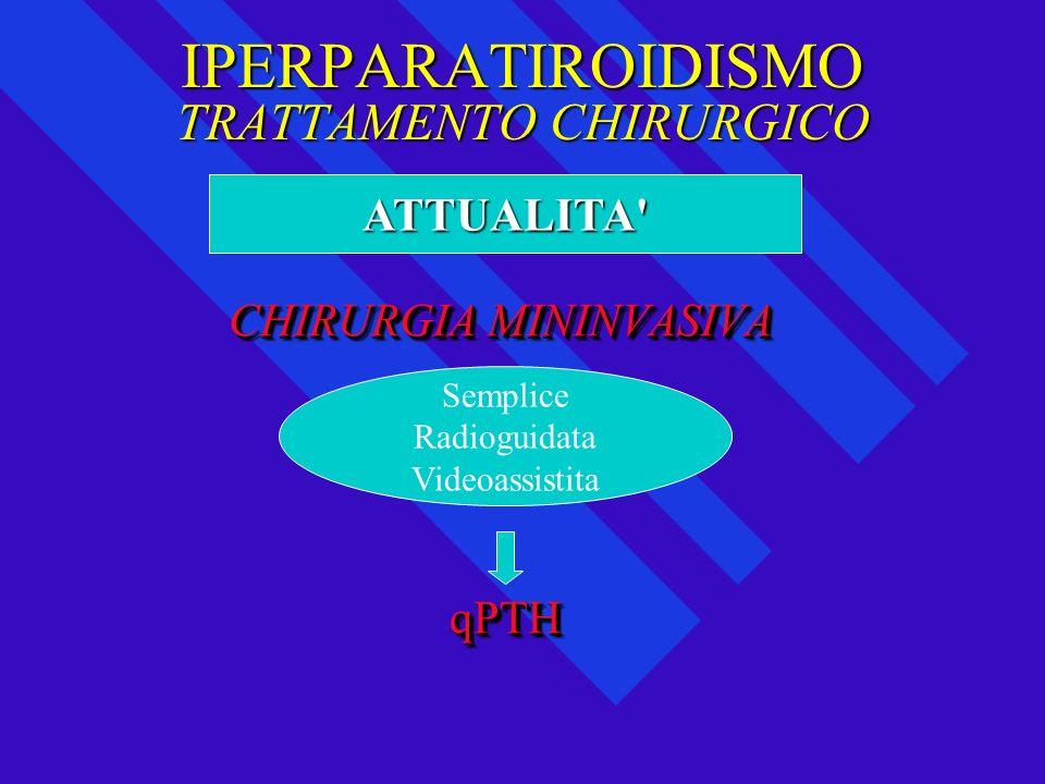 IPERPARATIROIDISMO TRATTAMENTO CHIRURGICO CHIRURGIA MININVASIVA CHIRURGIA MININVASIVA qPTH qPTH CHIRURGIA MININVASIVA CHIRURGIA MININVASIVA qPTH qPTH