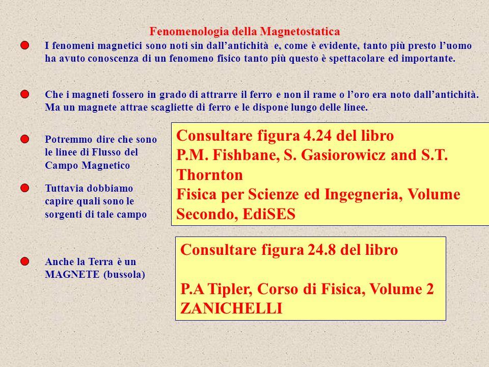 Con degli aghi magnetici posso determinare le linee di flusso del campo di induzione Magnetica.