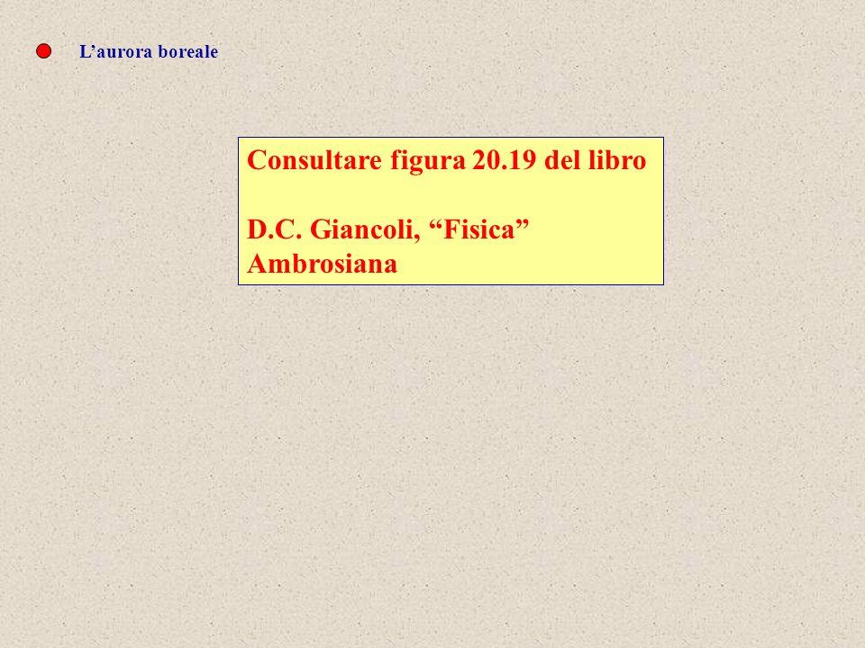 Laurora boreale Consultare figura 20.19 del libro D.C. Giancoli, Fisica Ambrosiana