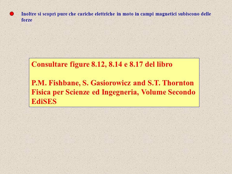 Inoltre si scoprì pure che cariche elettriche in moto in campi magnetici subiscono delle forze Consultare figure 8.12, 8.14 e 8.17 del libro P.M. Fish