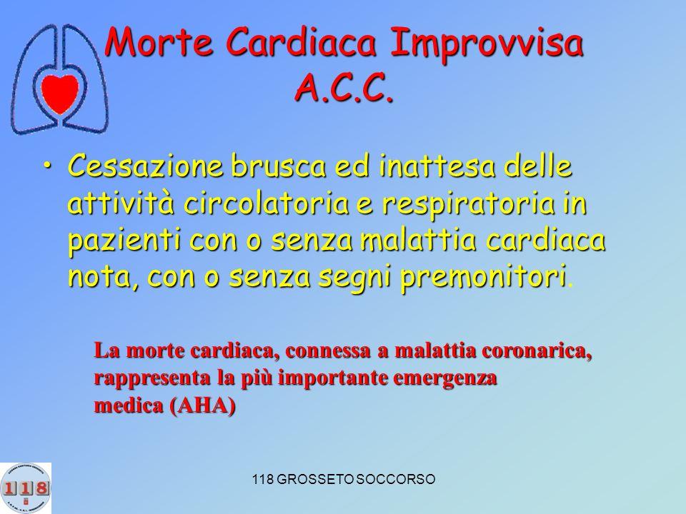 118 GROSSETO SOCCORSO Morte Cardiaca Improvvisa A.C.C.