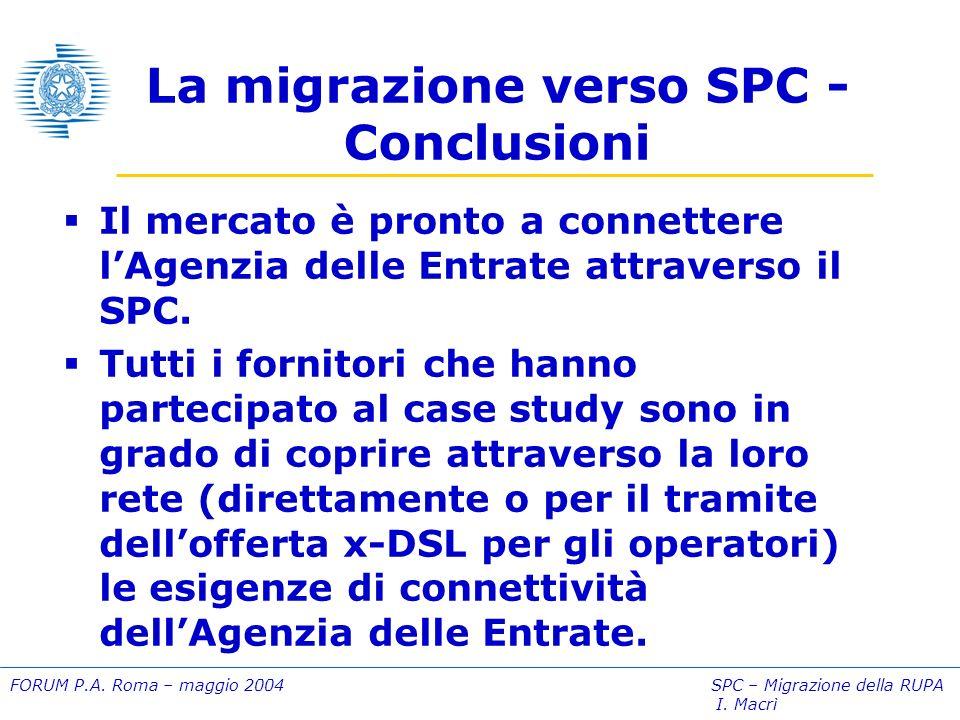 FORUM P.A. Roma – maggio 2004 SPC – Migrazione della RUPA I.