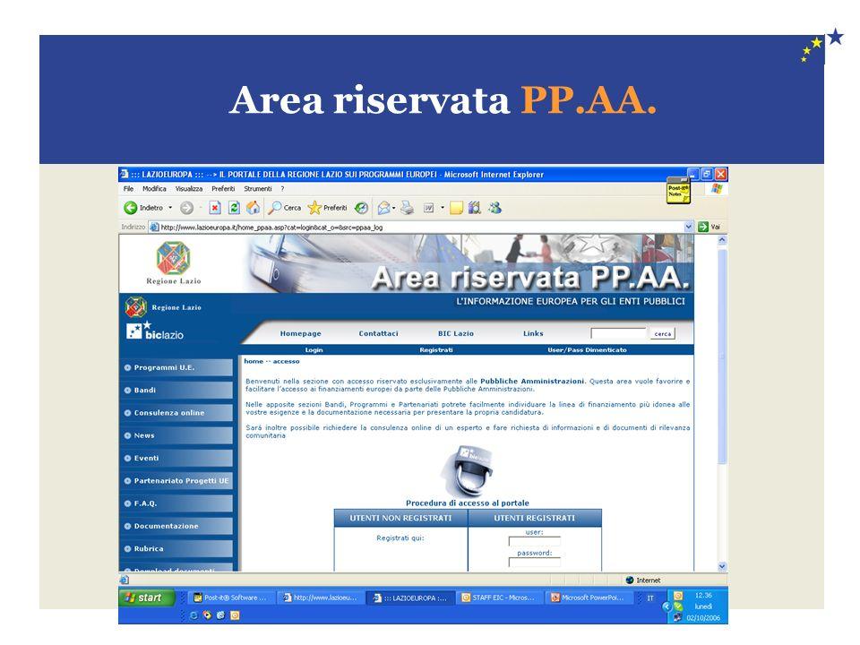 Area riservata PP.AA.