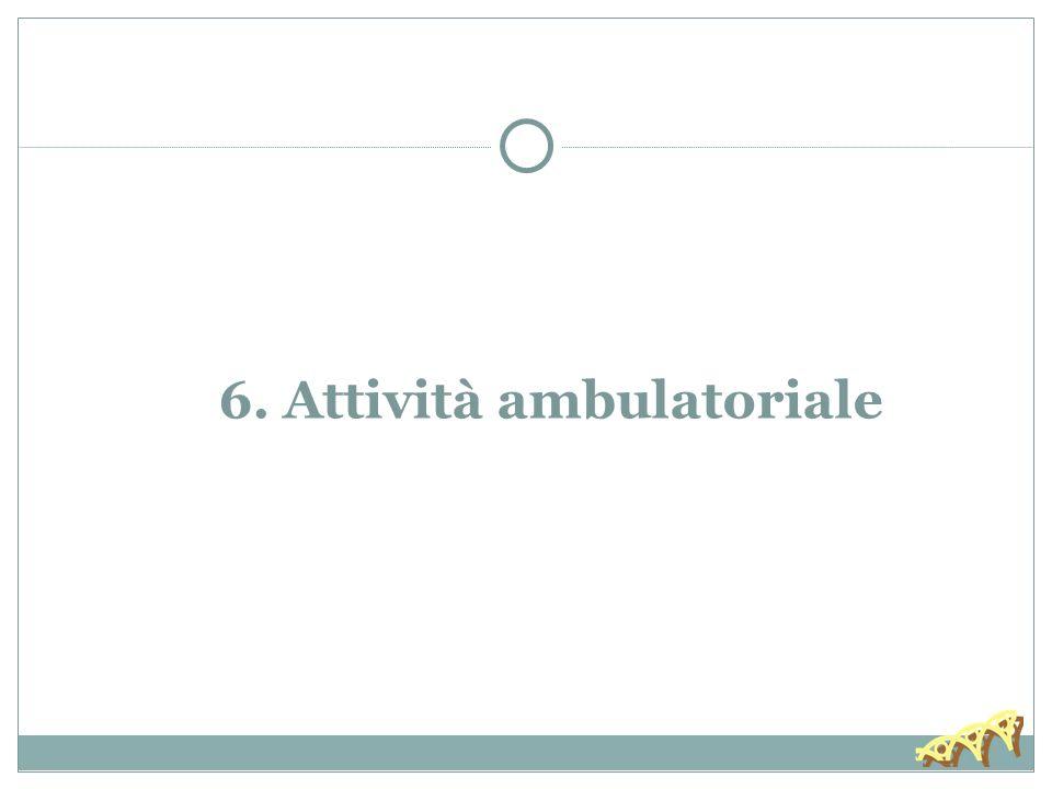6. Attività ambulatoriale