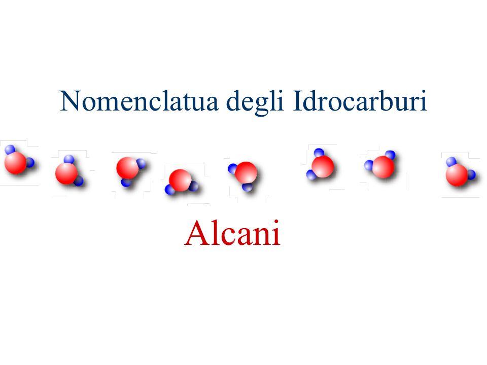 Nomenclatua degli Idrocarburi Alcani