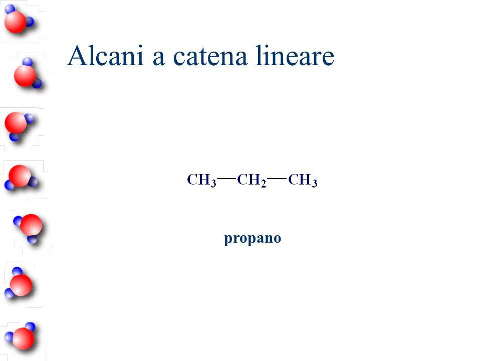 Alcani a catena lineare propano