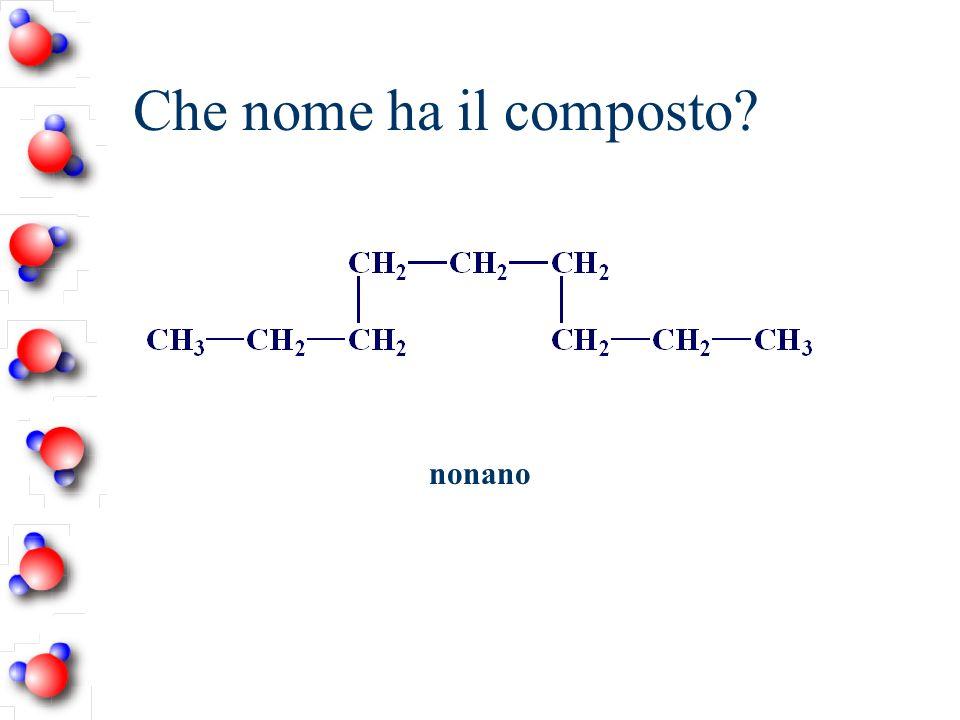 Che nome ha il composto? nonano