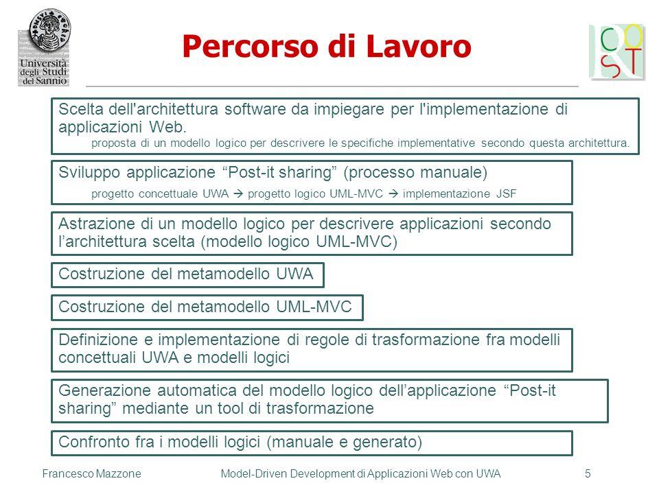 Francesco MazzoneModel-Driven Development di Applicazioni Web con UWA5 Scelta dell'architettura software da impiegare per l'implementazione di applica