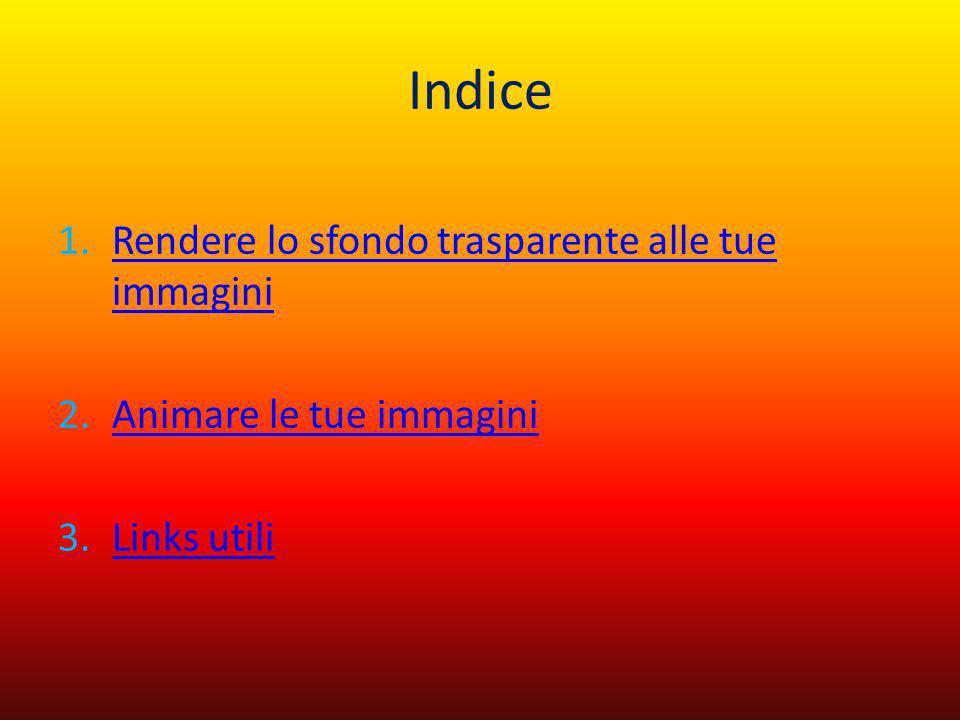 Indice 1.Rendere lo sfondo trasparente alle tue immaginiRendere lo sfondo trasparente alle tue immagini 2.Animare le tue immaginiAnimare le tue immagi