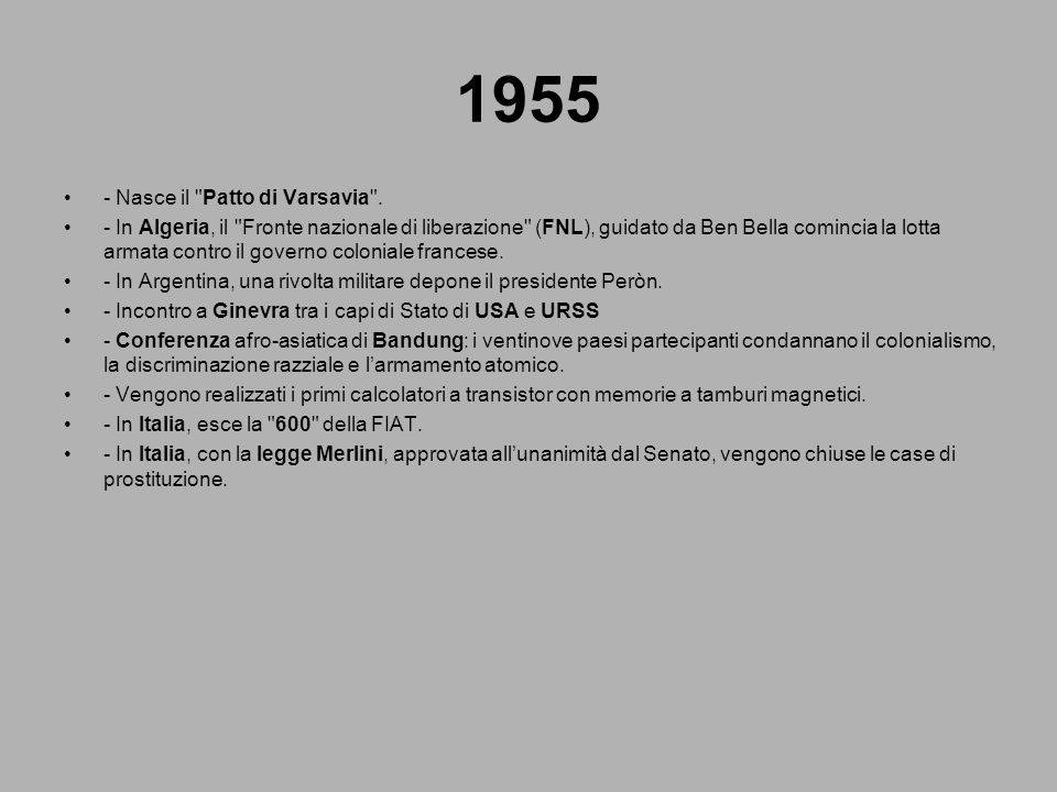 1955 - Nasce il