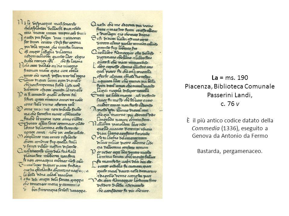 La = ms.190 Piacenza, Biblioteca Comunale Passerini Landi, c.