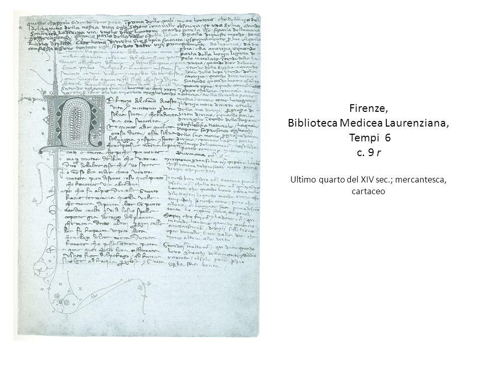 Firenze, Biblioteca Medicea Laurenziana, Tempi 6 c.