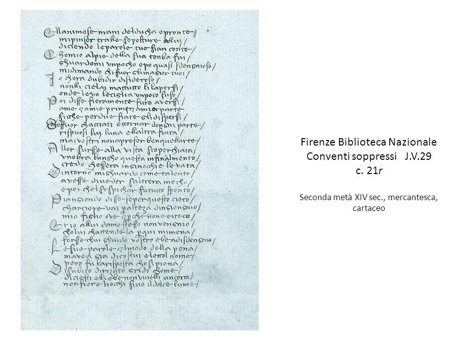 Firenze Biblioteca Nazionale Conventi soppressi J.V.29 c.