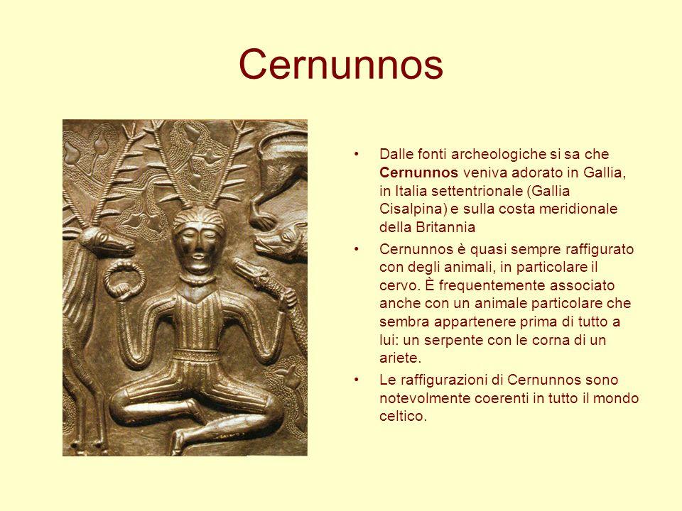 Cernunnos Dalle fonti archeologiche si sa che Cernunnos veniva adorato in Gallia, in Italia settentrionale (Gallia Cisalpina) e sulla costa meridional