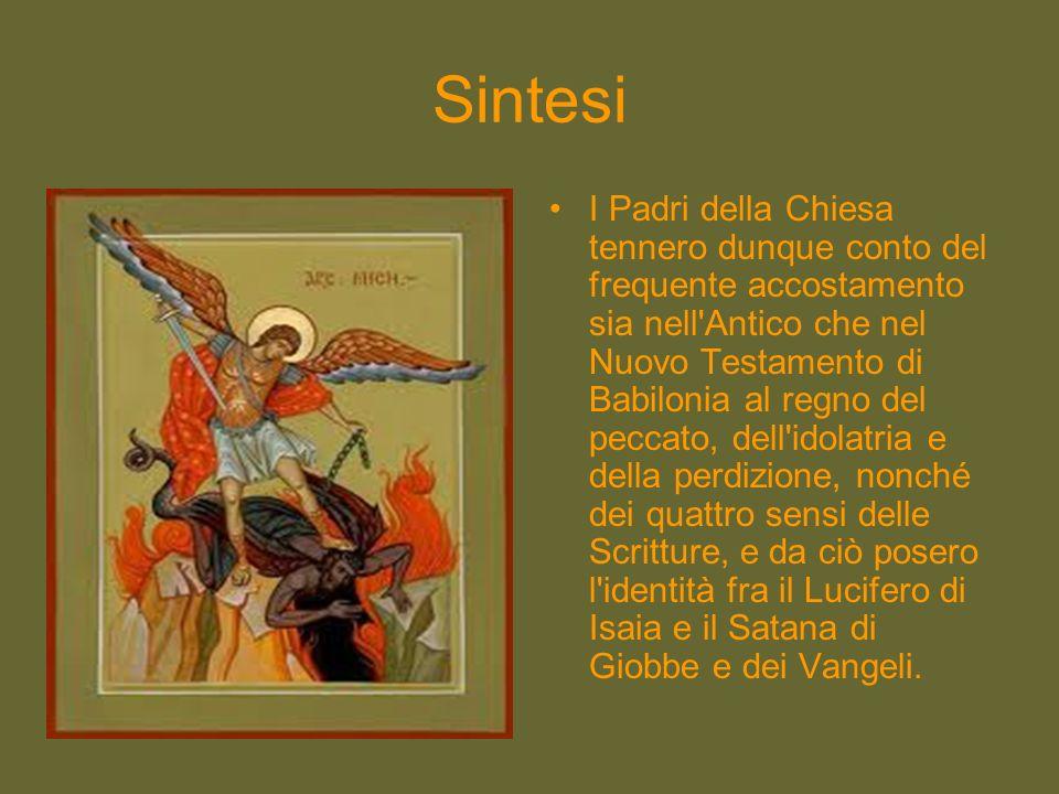 Sintesi I Padri della Chiesa tennero dunque conto del frequente accostamento sia nell'Antico che nel Nuovo Testamento di Babilonia al regno del peccat