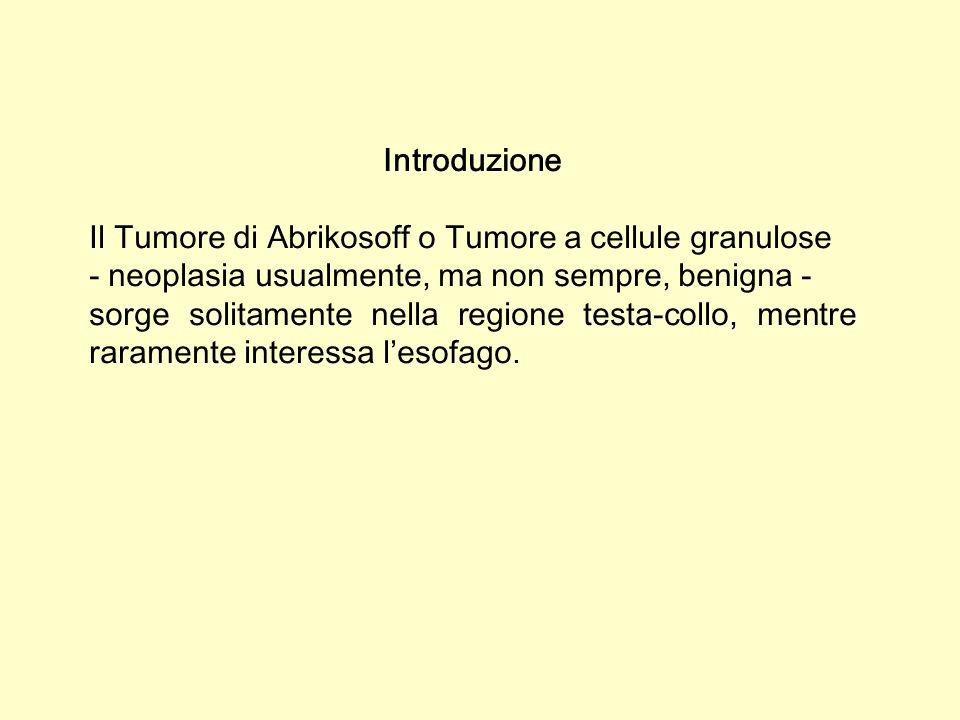 Caso clinico Il caso descritto è sorto in uomo di 42 anni che - allesame endoscopico dellesofago distale, presso la giunzione esofago-cardiale - presenta lesione piana irregolare, interpretata in prima istanza dallendoscopista come Esofago di Barrett.