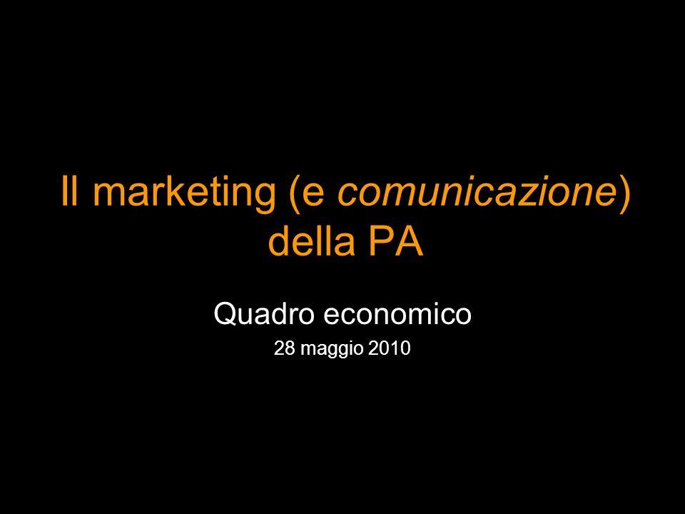 Il marketing (e comunicazione) della PA Quadro economico 28 maggio 2010