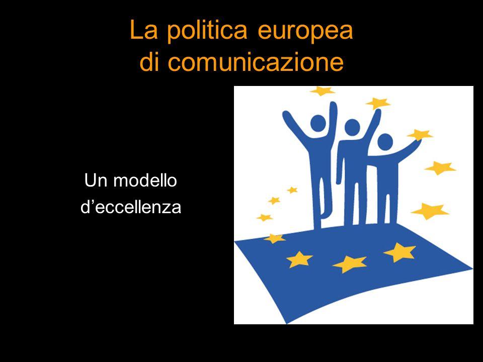 La politica europea di comunicazione Un modello deccellenza
