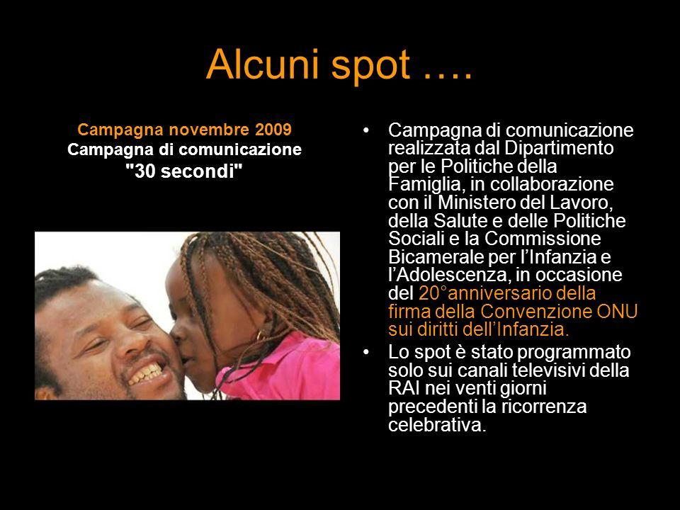 Alcuni spot …. Campagna novembre 2009 Campagna di comunicazione