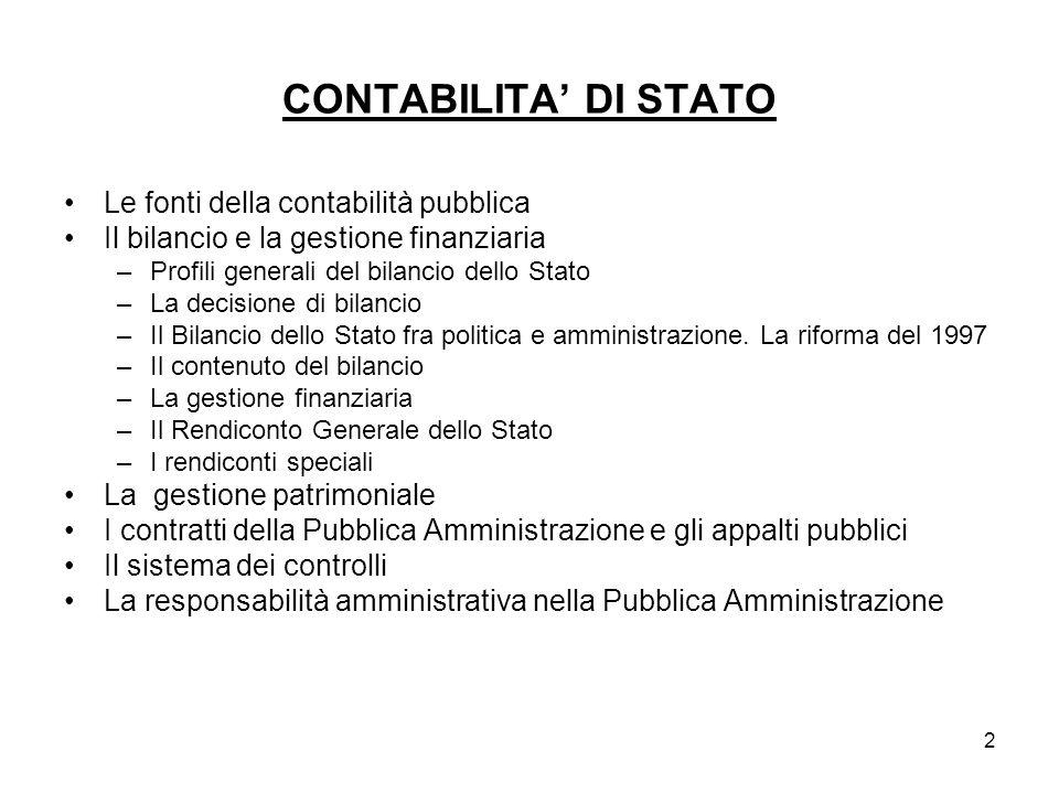 3 Le fonti della contabilità pubblica