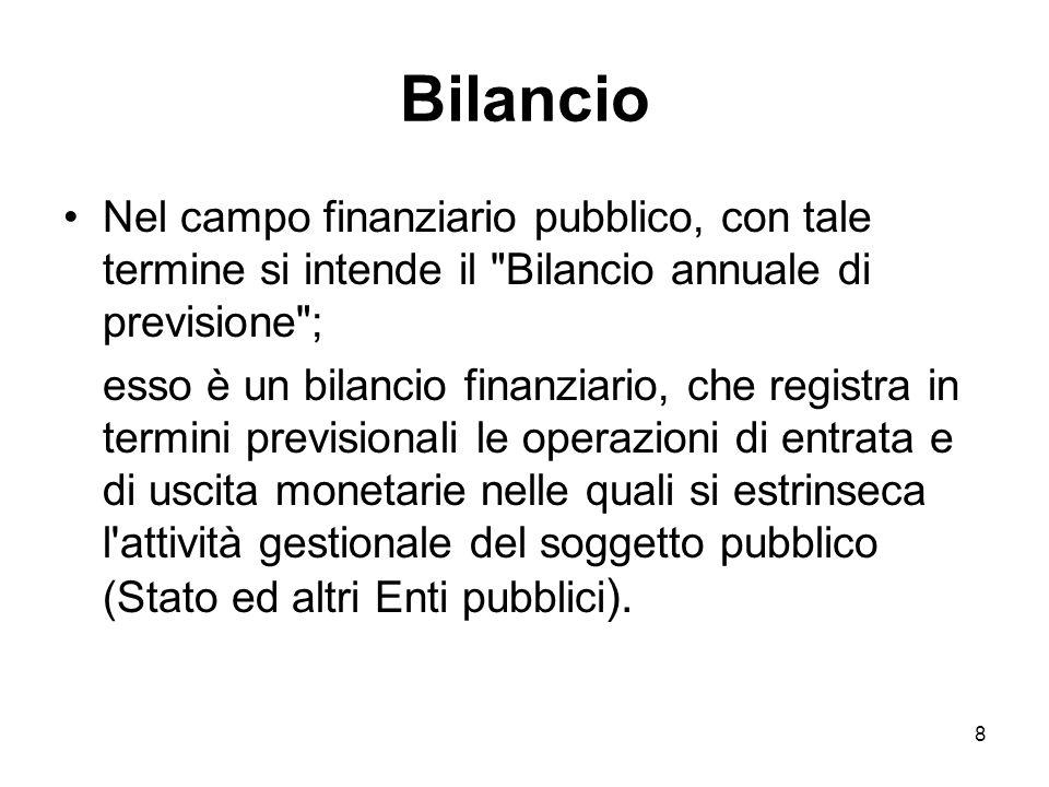 39 Responsabilità di gestione Bilancio per la gestione Assegnazione risorse finanziarie Successivamente allapprovazione della legge di bilancio il Ministro dellEconomia e delle Finanze ripartisce in capitoli le unità previsionali di base.