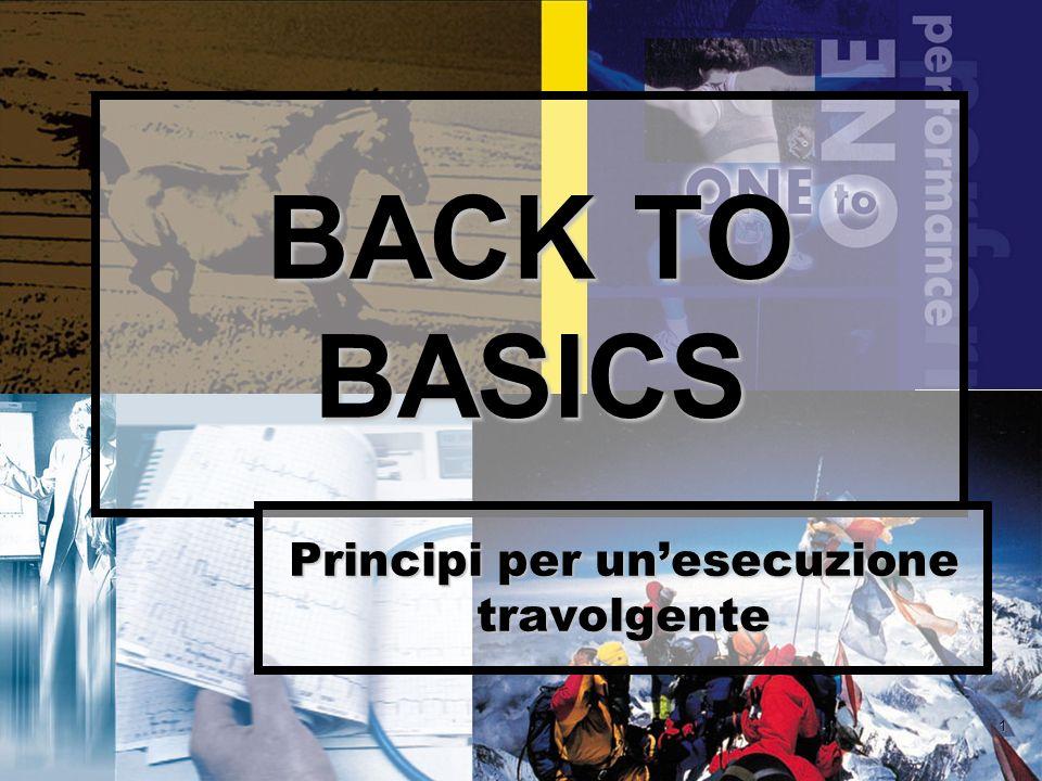 1 BACK TO BASICS Principi per unesecuzione travolgente