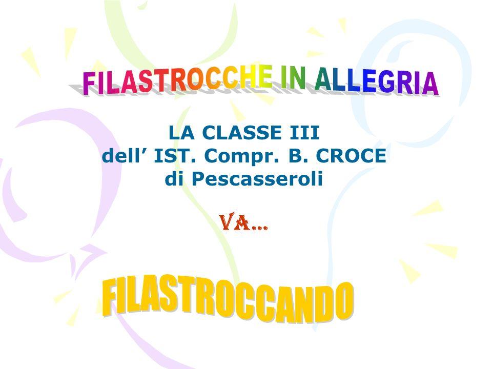 LA CLASSE III dell IST. Compr. B. CROCE di Pescasseroli va…