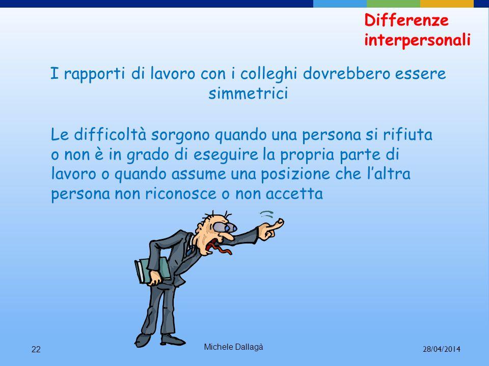 Michele Dallagà21 Differenze interpersonali Personalità diverse Differenze di sesso e di età 28/04/2014