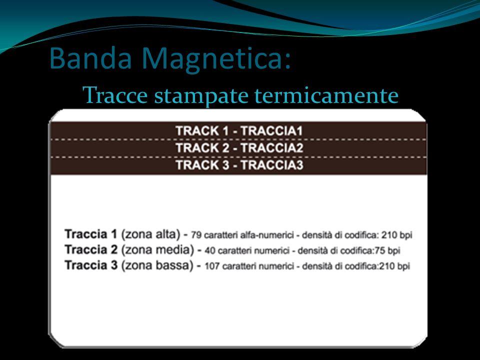 Banda Magnetica: Tracce stampate termicamente