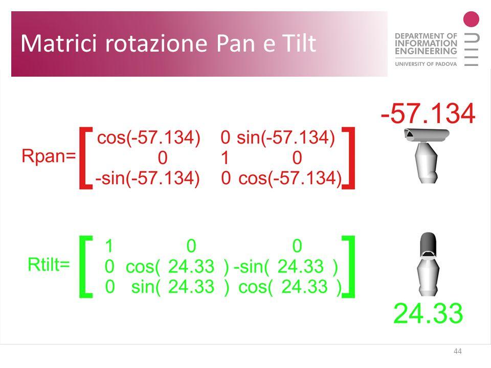 44 Matrici rotazione Pan e Tilt